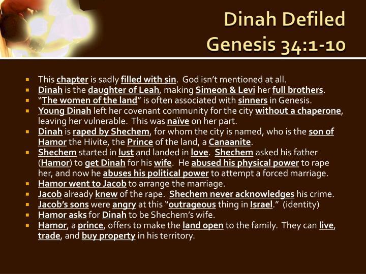 Dinah Defiled
