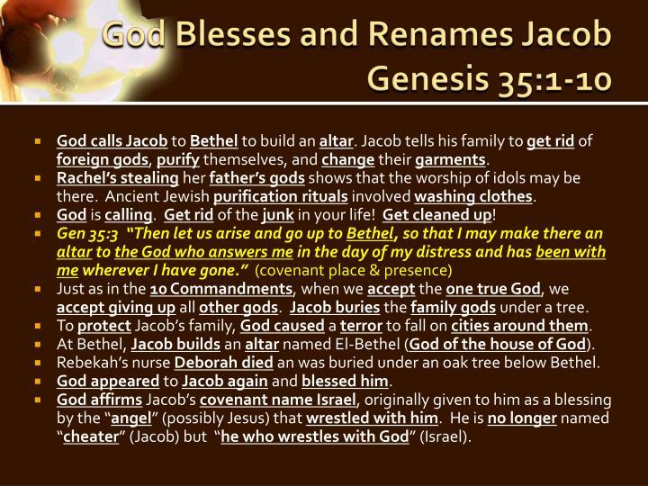 God Blesses and Renames Jacob