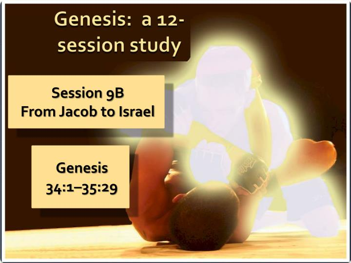 Session 9b from jacob to israel