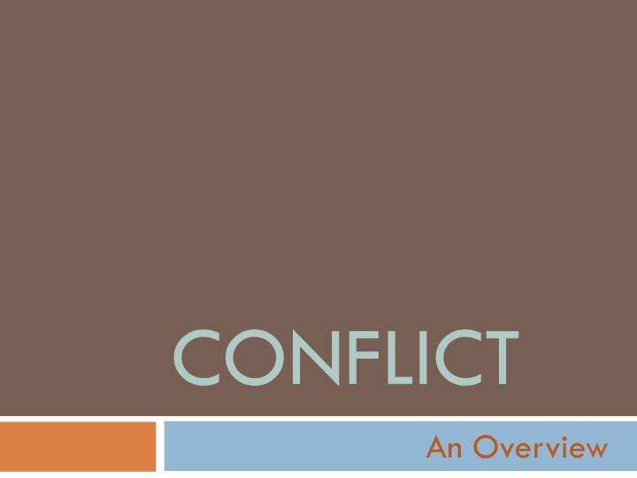 conflict n.