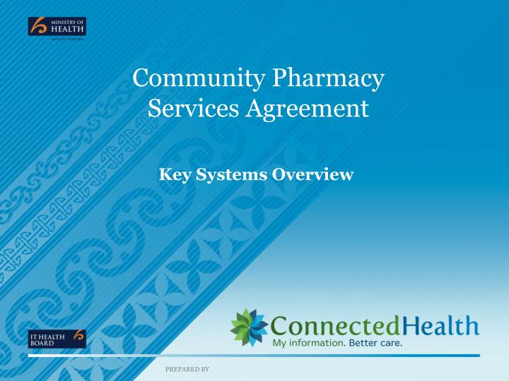 community pharmacy services agreement n.