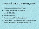 validit mbct teasdale 2000