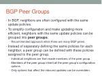 bgp peer groups