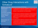 other drug interactions with sofosbuvir