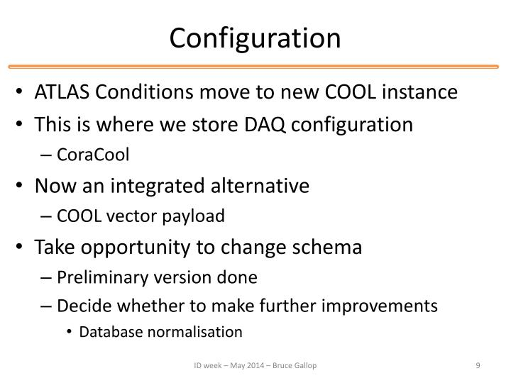 Configuration