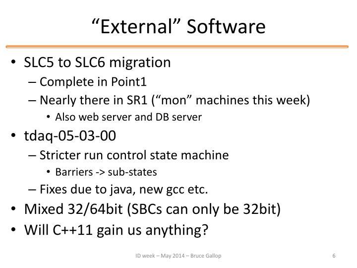 """""""External"""" Software"""