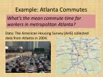 example atlanta commutes