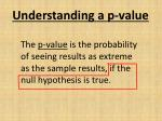 understanding a p value