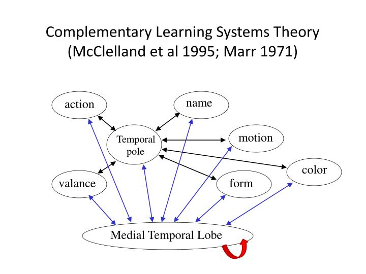 Complementary learning systems theory mcclelland et al 1995 marr 1971