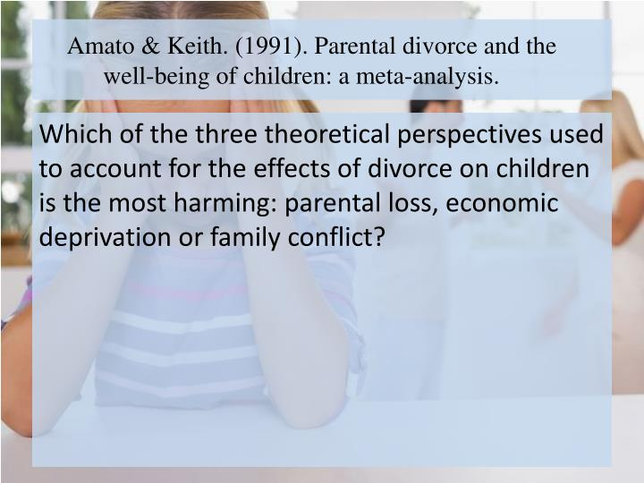 the immediate and long term effects of divorce on a family Is divorce bad for children found that many children experience short-term negative effects from divorce  of divorce paul r amato in family.