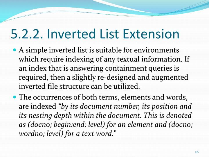 5.2.2. Inverted List Extension