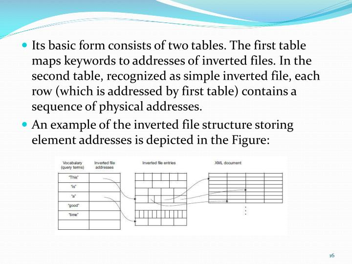 Its basic form consists of two tables. The
