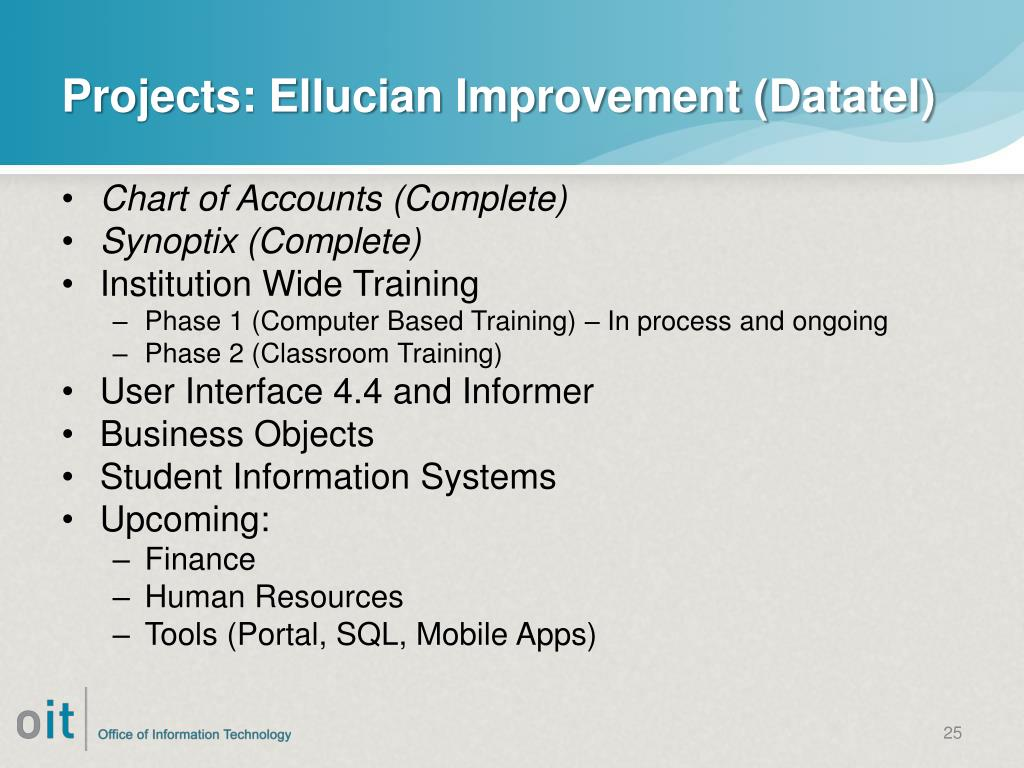 PPT - OIT – Reinvention, Projects and the Horizon PowerPoint