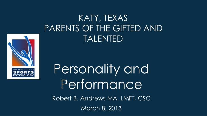 Katy, Texas Parents of The Gifted and Talented