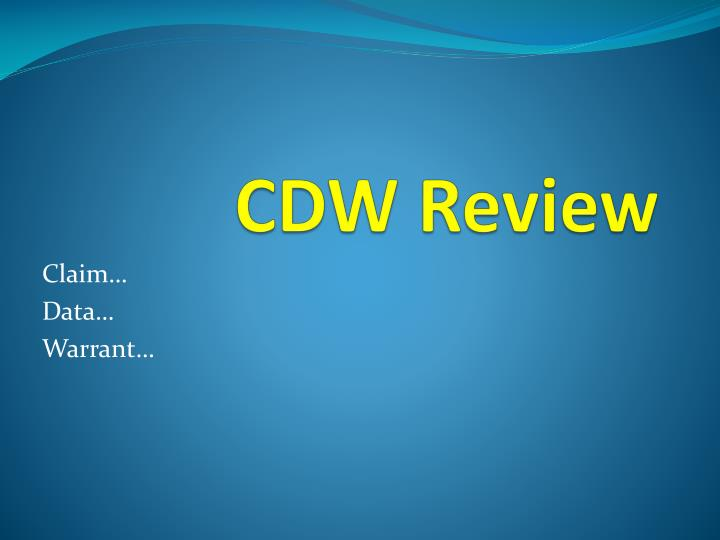 cdw review