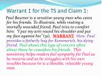 warrant 1 for the ts and claim 1