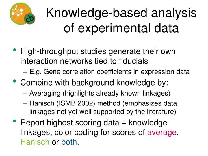 Knowledge-based analysis