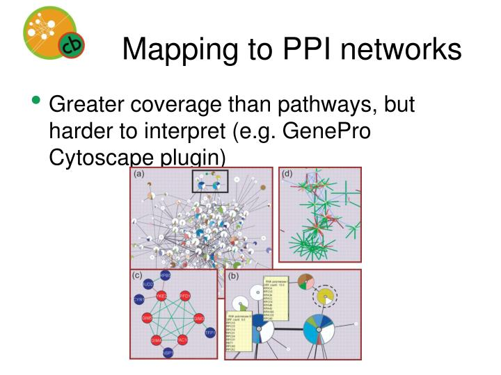 Mapping to PPI networks
