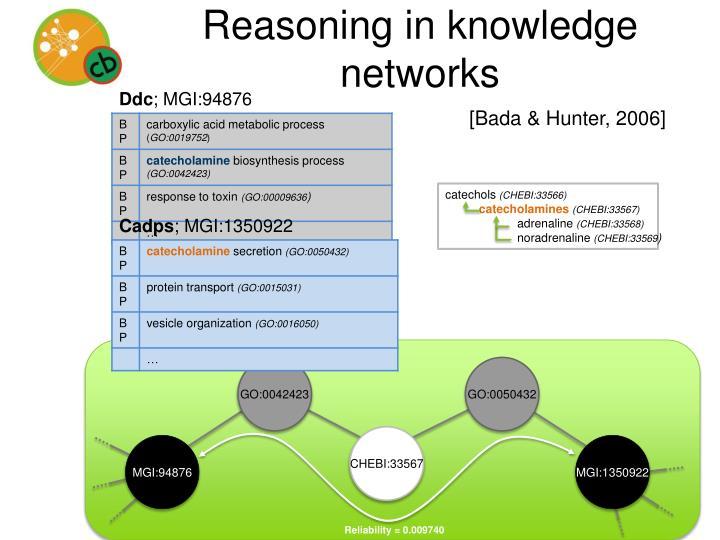 Reasoning in knowledge networks