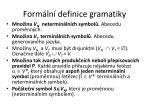 form ln definice gramatiky