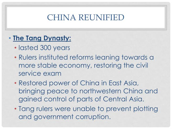 China reunified1