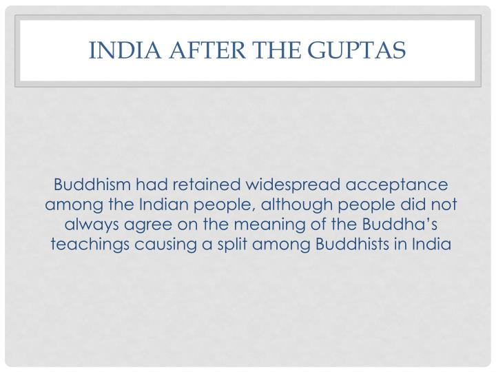 India after the Guptas