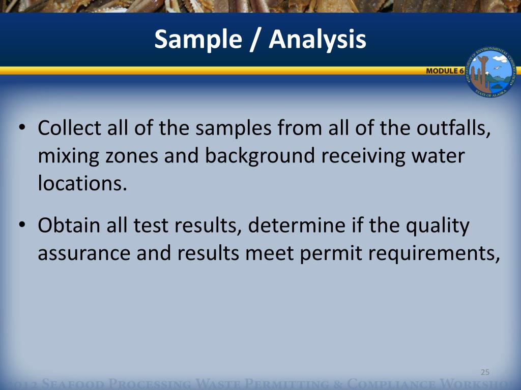 PPT - Module 6 Effluent Monitoring and Receiving Water