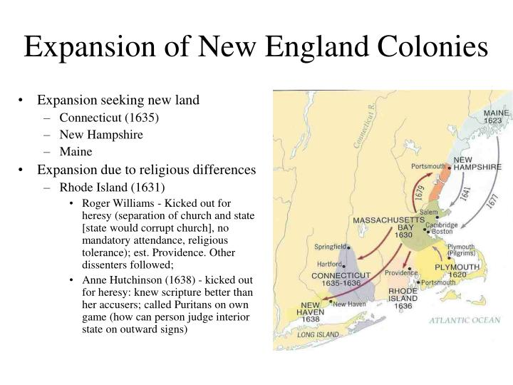 Expansion of New England Colonies