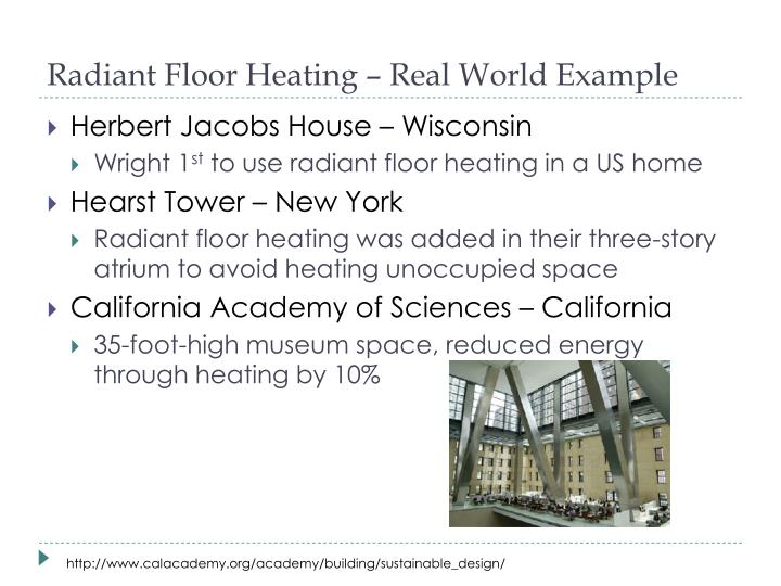 Radiant Floor Heating – Real World Example