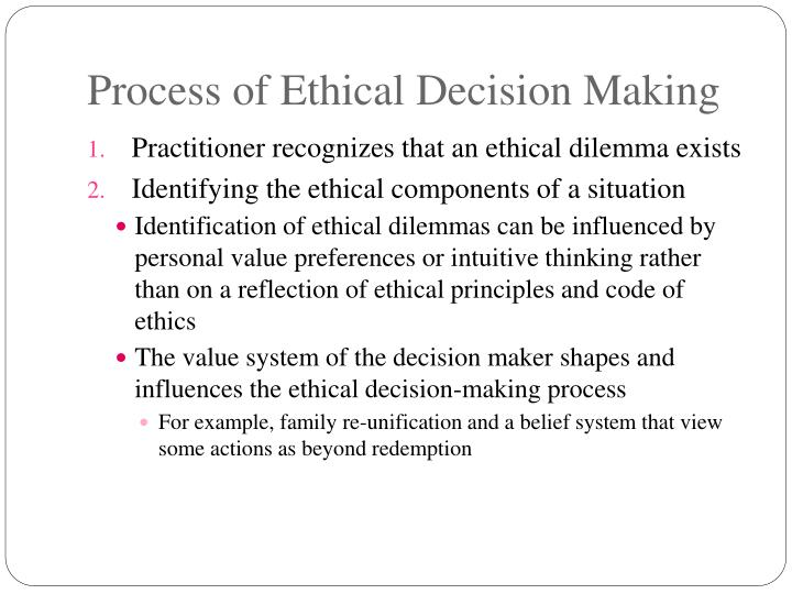 misrepresentation and the ethical decision to embellish The code of ethics offers a framework for ethical decision-making when conflicts arise in either the practice or the business of aging life care it assists aging life care professionals in examining the ethical issues present in all aspects of their work by identifying what principles need to be considered and how to prioritize them when it is.