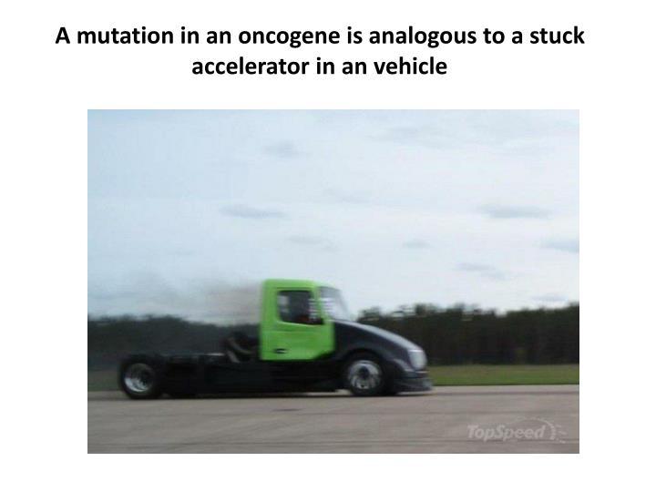 A mutation in an