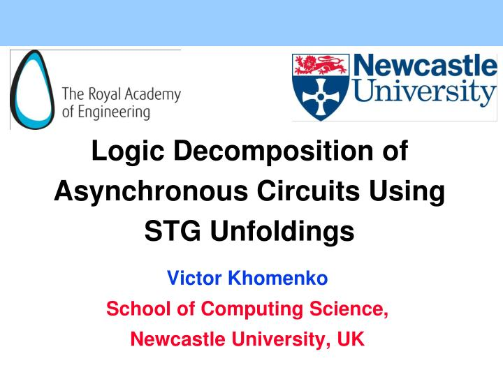 Logic decomposition of asynchronous circuits using stg unfoldings