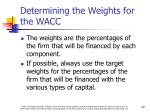 determining the weights for the wacc