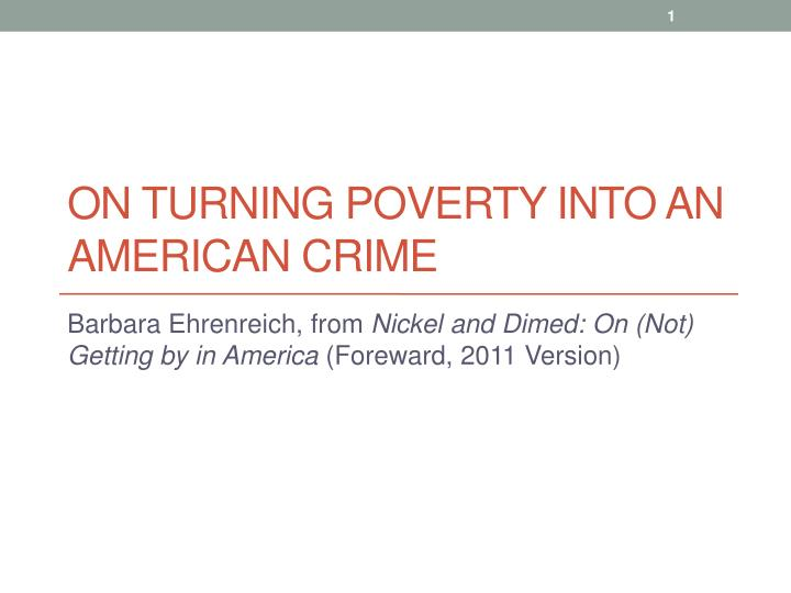 poverty and crime in america essay Crime, poverty and violence in america rfuaw diarra soc402 contemporary social problems & the workplace bpb1108a poverty, crime and violence in america.
