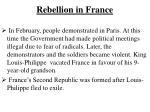 rebellion in france