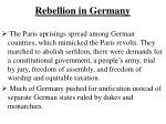 rebellion in germany