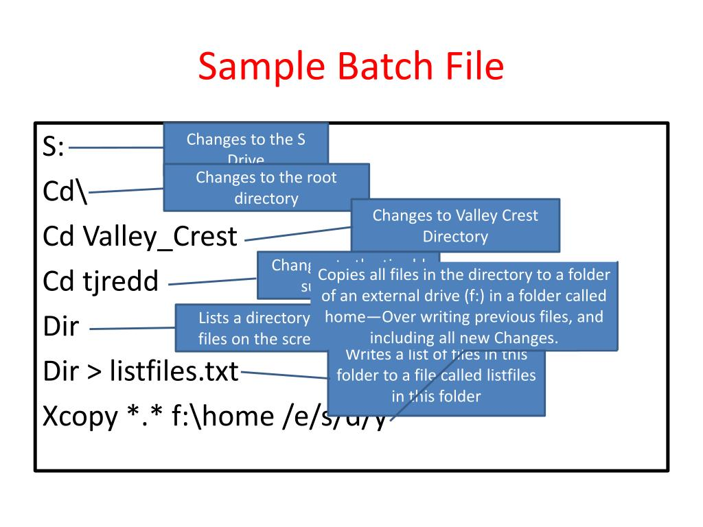 PPT - Batch File Basics PowerPoint Presentation - ID:1880216