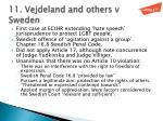 11 vejdeland and others v sweden