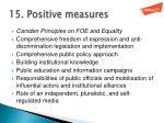 15 positive measures