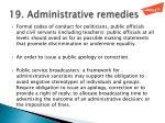 19 administrative remedies