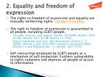 2 equality and freedom of expression