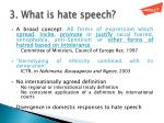 3 what is hate speech