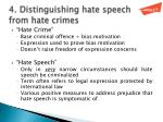 4 distinguishing hate speech from hate crimes
