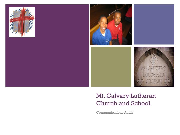 Mt calvary lutheran church and school