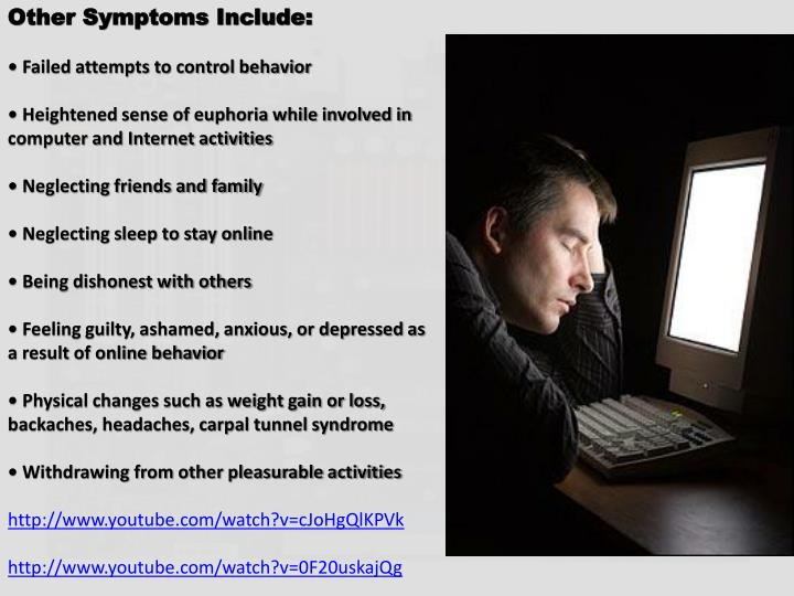 Other Symptoms Include: