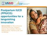 postpartum iucd ppiucd opportunities for a languishing innovation