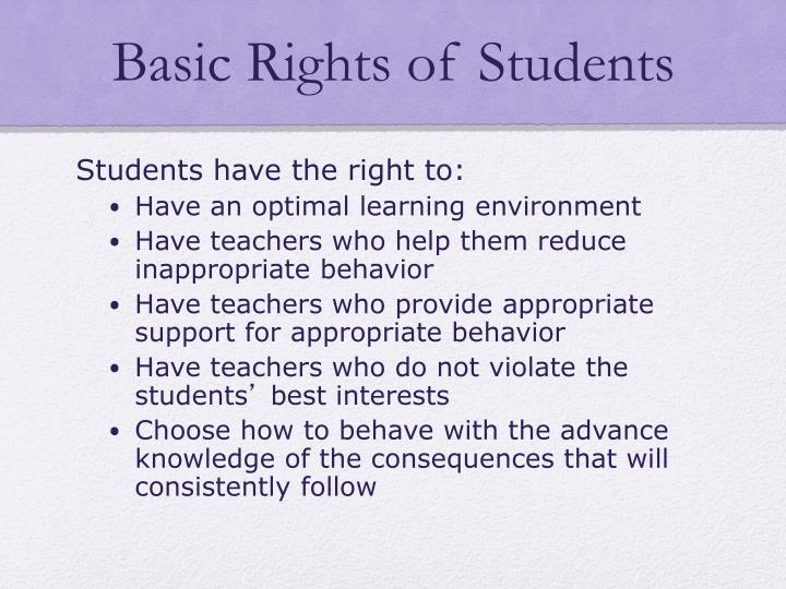 Basic Rights of Students