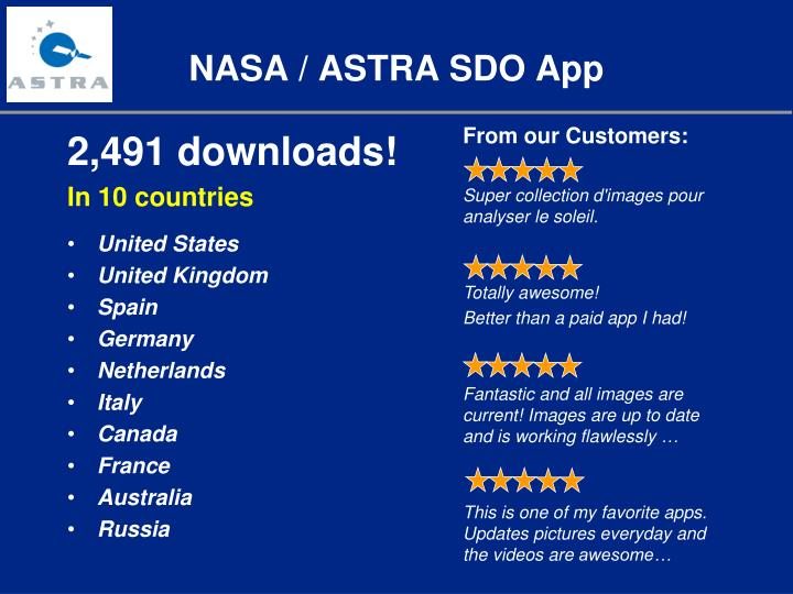 NASA / ASTRA SDO App