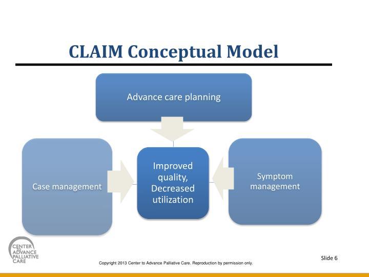 CLAIM Conceptual Model