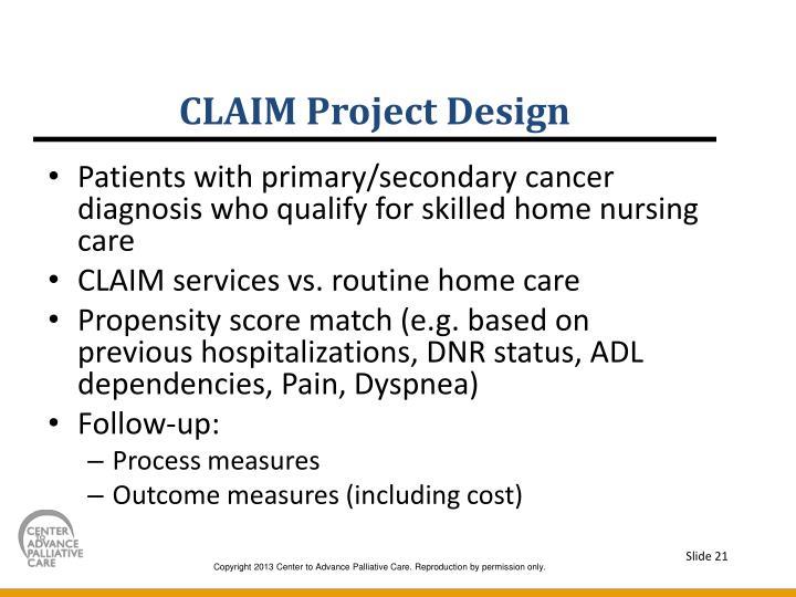 CLAIM Project Design